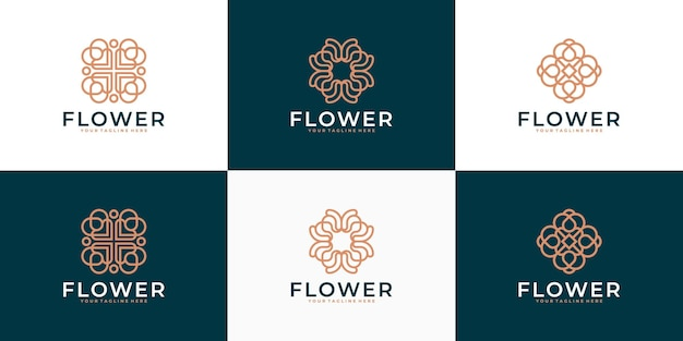 Luxus-blumen-schönheitslogo-design-inspiration für salon-spa-hautpflege und produktschönheit andere