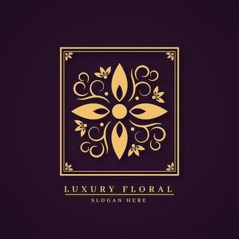 Luxus-blumenparfüm-logo-konzept