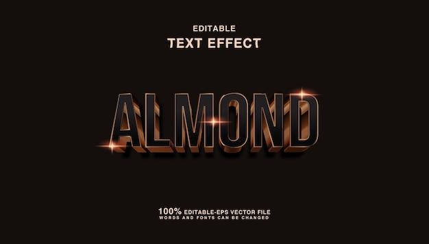 Luxus bronze mandel text stil effekt