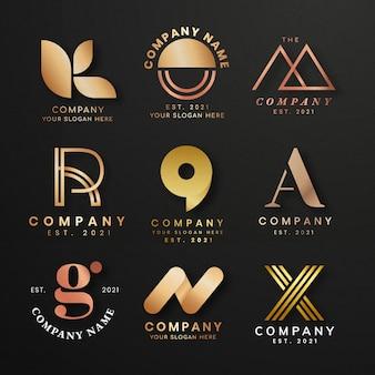 Luxus-business-logo-set