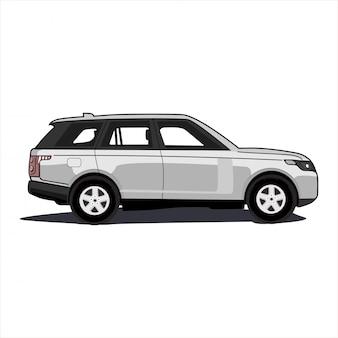 Luxus & compact grau suv auto