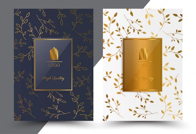 Luxus cover design geometrisch