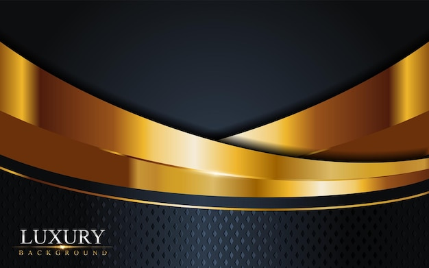 Luxus dark navy kombination mit golden lines hintergrund. grafisches element.