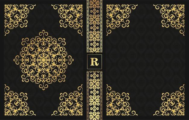 Luxus dekorative buchumschlag design