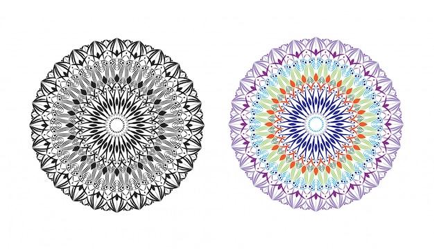 Luxus dekorative mandala design abstrakten hintergrund