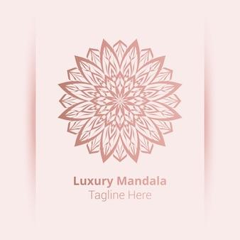 Luxus dekorative mandala logo vorlage