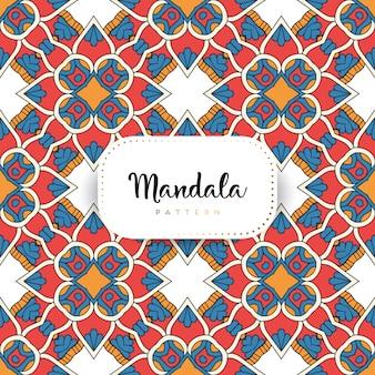 Luxus dekorative mandala-muster-vorlage