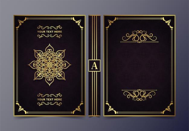 Luxus dekorativer buchumschlag