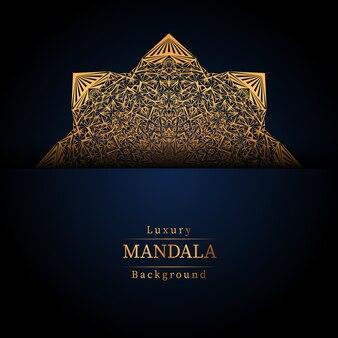 Luxus dekorativer mandala design hintergrund in goldfarbe,
