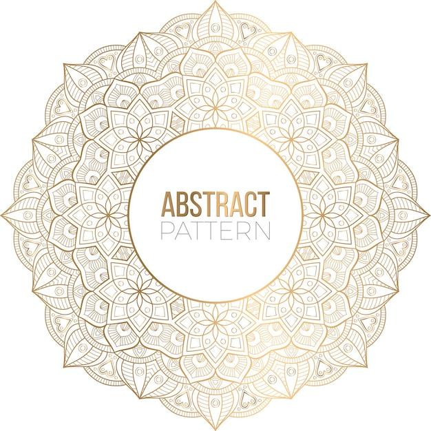 Luxus dekorativer mandala design hintergrund
