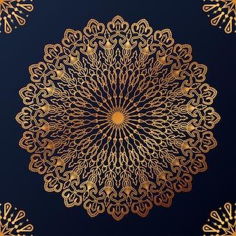 Luxus dekorativer mandala-design-hintergrund