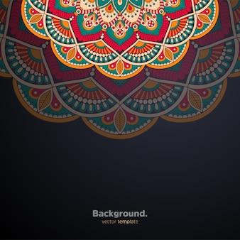Luxus dekorativer mandala-designhintergrund bunt