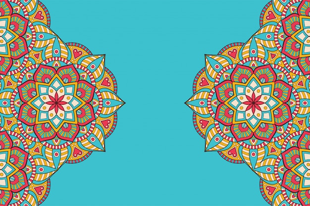 Luxus dekorativer mandala-designhintergrund im goldfarbvektor