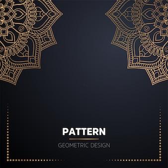 Luxus dekorativer mandala-designhintergrund in der goldfarbe