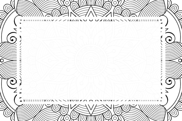 Luxus dekorativer mandala rahmenhintergrund