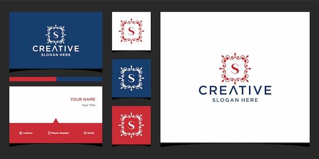 Luxus des logos mit visitenkartenvorlage