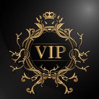 Luxus-design mit goldener farbe