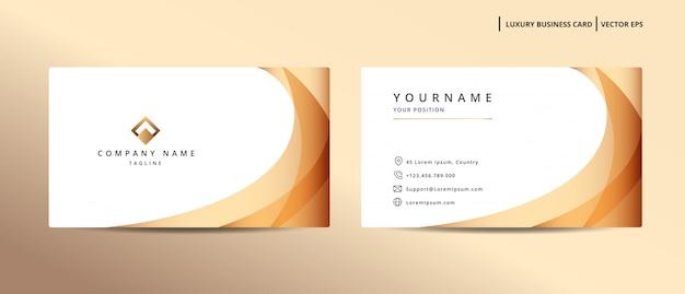 Luxus-design-visitenkarte mit minimalistischer vorlage des goldstils
