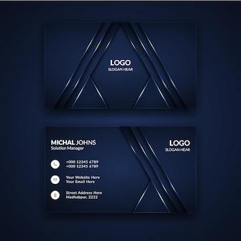 Luxus-design-visitenkartenschablone in der schwarzen farbe.
