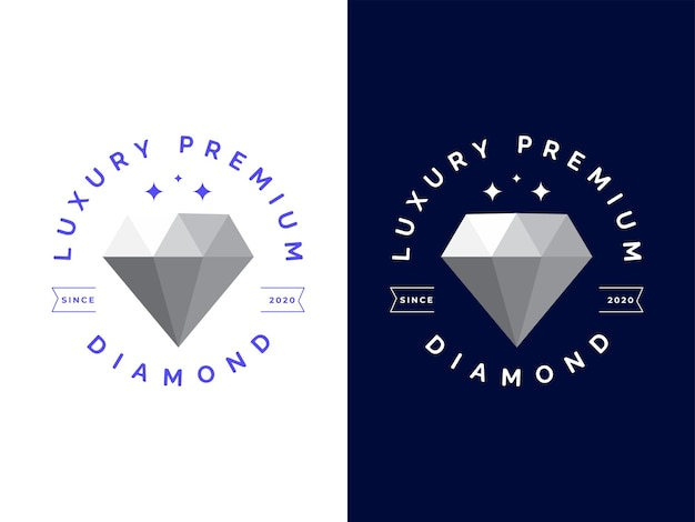 Luxus-diamant-logo-design-konzept