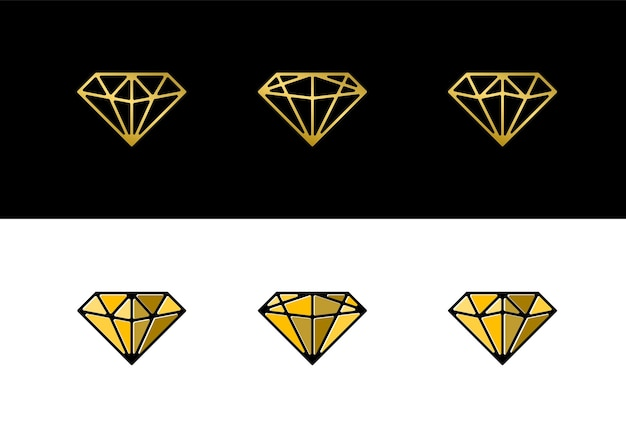 Luxus-diamant-logo-icon-sammlung