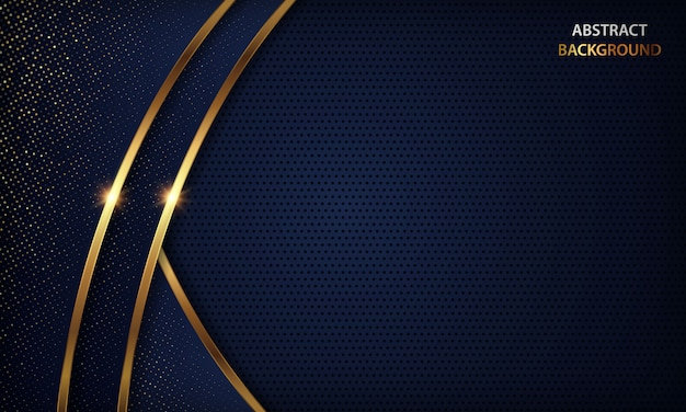 Luxus dunkelblau mit goldenem detailhintergrund