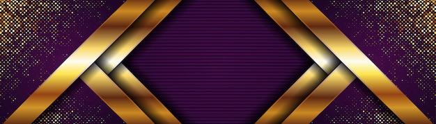 Luxus dunkelvioletter abstrakter hintergrund mit glänzendem gold