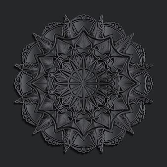 Luxus dunklen damast mandala orientalischen hintergrund