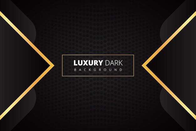 Luxus dunkler hintergrund mit glühendem golden