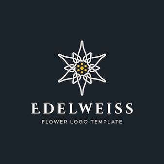 Luxus edelweiss flower logo