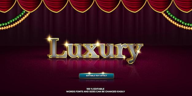 Luxus editierbarer texteffekt luxustextstil