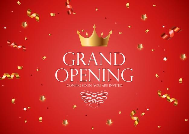Luxus-einladung zur eröffnung