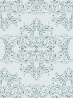 Luxus-einladungskarte. königliche viktorianische muster ornament
