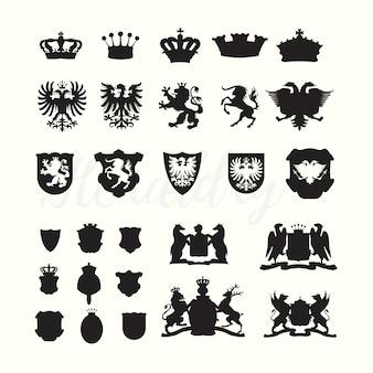 Luxus embleme sammlung