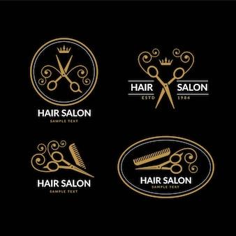 Luxus-friseursalon-logo-sammlung