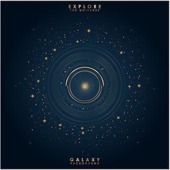 Luxus galaxie hintergrund