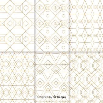 Luxus geometrische mustersammlung