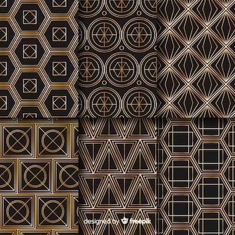 Luxus geometrische mustersatz