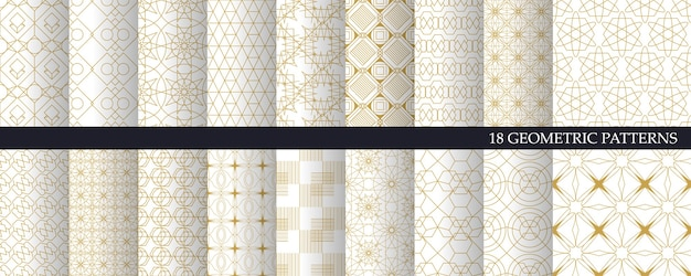 Luxus geometrisches muster und dekorative tapete