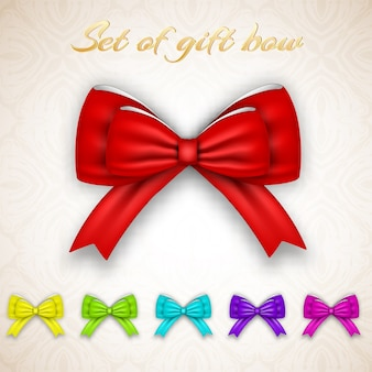 Luxus geschenkband schleifen set