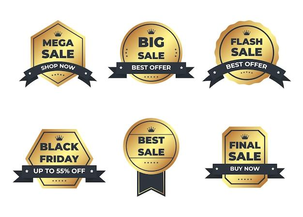 Luxus gold abzeichen und etiketten premium-produkt