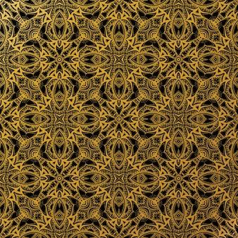 Luxus gold batik nahtlose muster, batik indonesisch ist eine technik der wachs-resist-färbung auf ganzen stoff angewendet