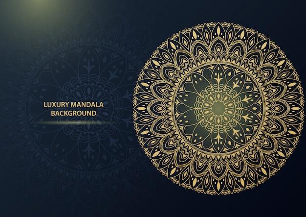 Luxus gold dekorativer mandala hintergrund. illustration