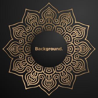 Luxus gold hintergrund bunte mandala