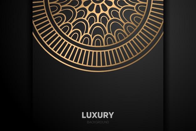 Luxus gold hintergrund schwarzes mandala