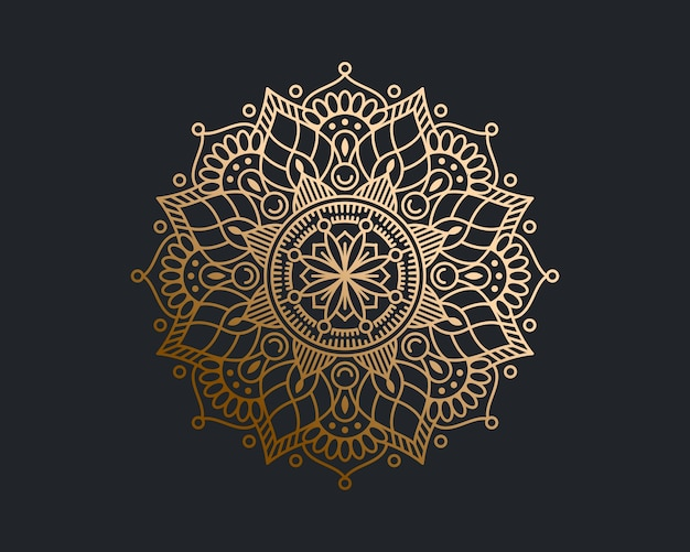 Luxus gold mandala hintergrund