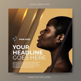 Luxus gold social media banner vorlage
