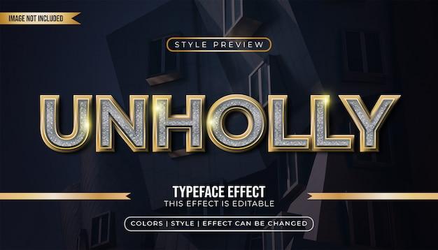 Luxus gold text mit effekten