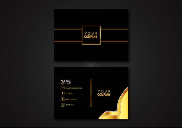 Luxus gold visitenkartenvorlage