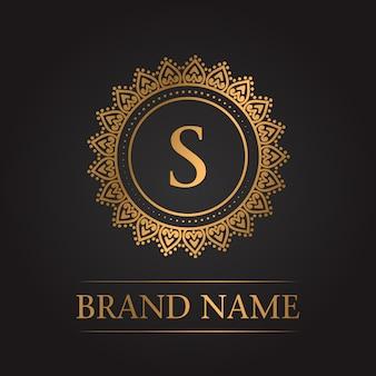 Luxus gold vorlage monogramm